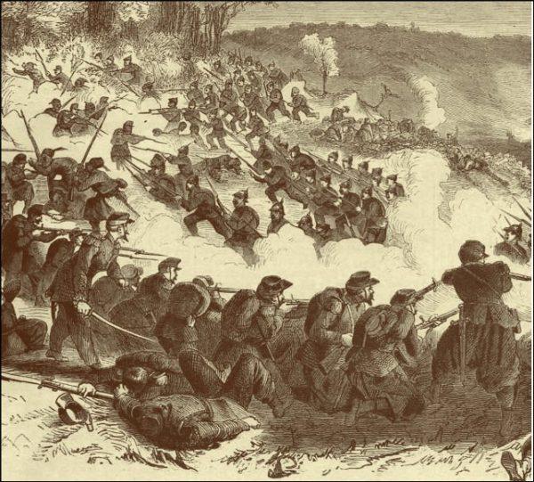 attaque prussienne sur le hauteurs de Woerth